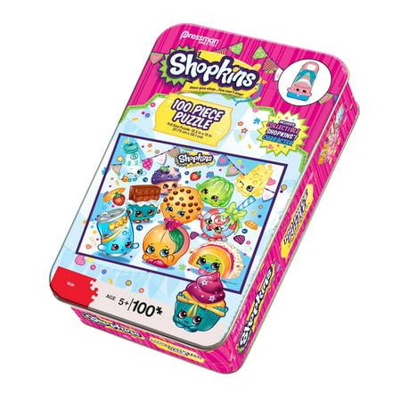 Pressman Toys Shopkins Puzzle Tin with Collectible (100 Piece)
