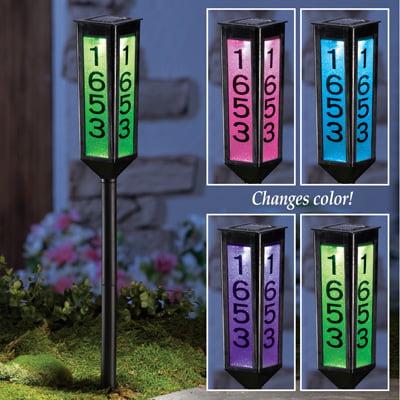 Solar Address Light Garden Marker lantern by