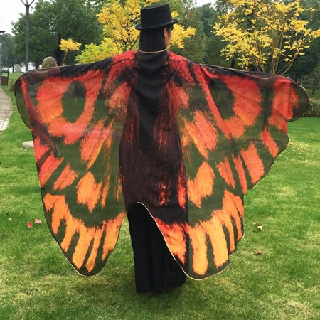 (Butterfly Wing Cape Scarf for Girls Women)