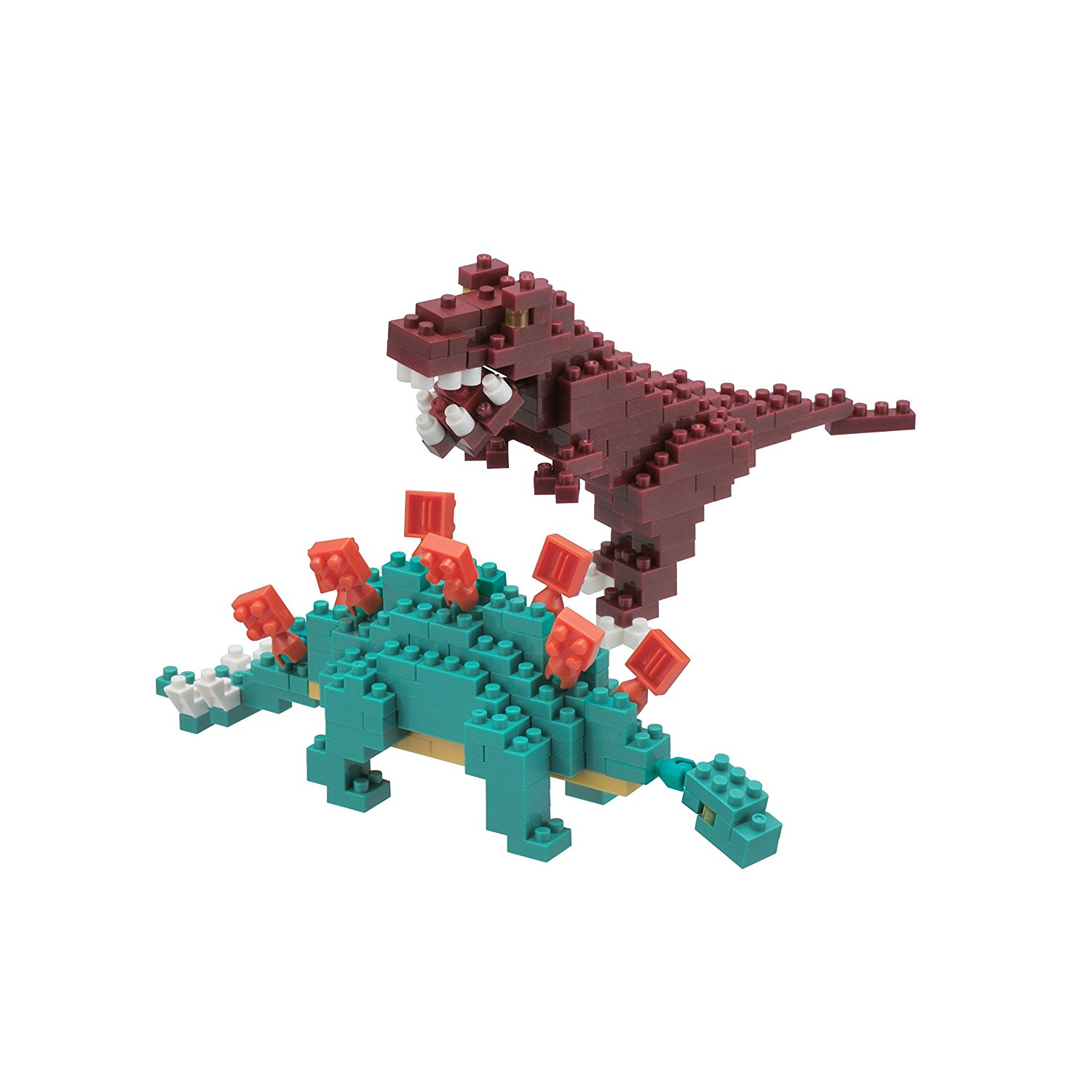 Stegosaurus and Tyrannosaurus (T-Rex) Model Kit, Over 240 assorted size pieces By... by