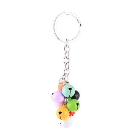 Metal Bell Pendant Split Key Ring Keychain Backpack Ornament Multicolor - image 1 of 2