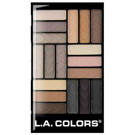 LA Colors 18-Color Eyeshadow Palette, Downtown Brown - Walmart.com