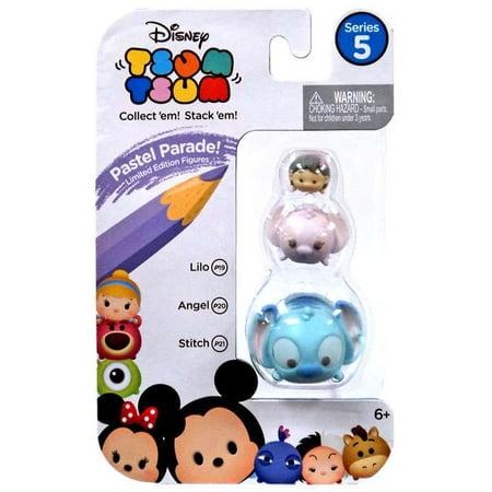 Disney Tsum Tsum Series 5 Pastel Parade Lilo, Angel & Stitch Minifigure 3-Pack](Angel Lilo And Stitch)