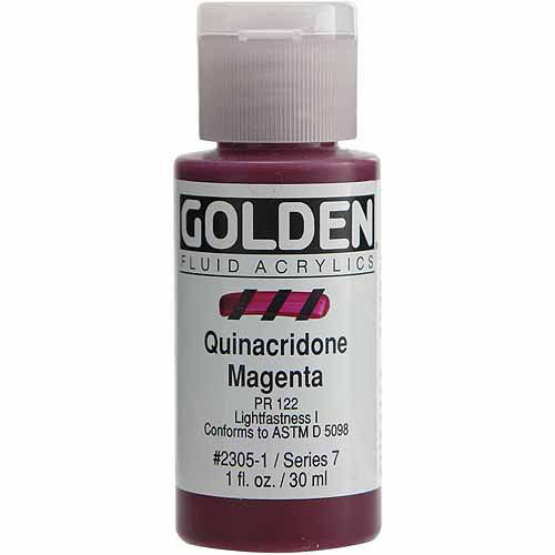 Golden Artist Colors 1 Oz Fluid Acrylic Color Paints