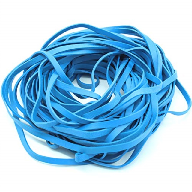 Garbage Trash Can Rubber Bands Blue Large Size 17 Quot Inch