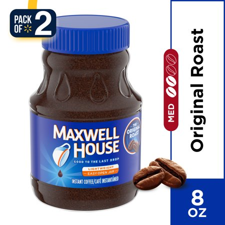 (2 Pack) Maxwell House Original Roast Instant Coffee, 8 oz