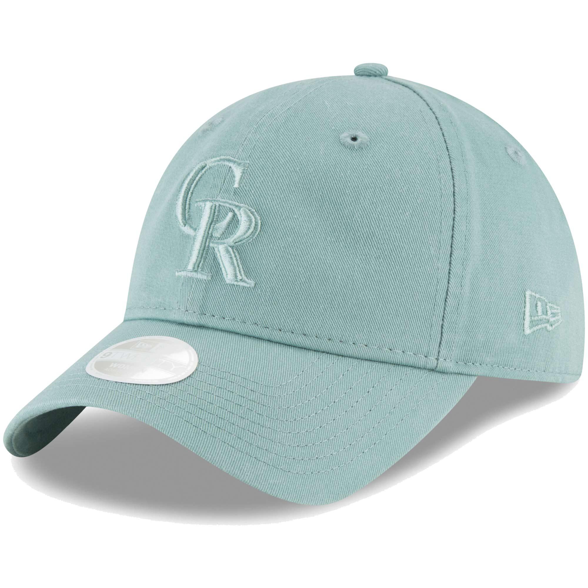 Colorado Rockies New Era Women's Core Classic Twill 9TWENTY Adjustable Hat - Light Blue - OSFA