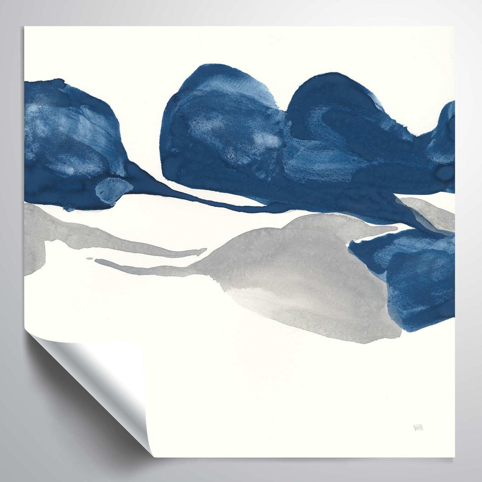 Brushstone Sapphire & Gray II Vinyl Wall Decal