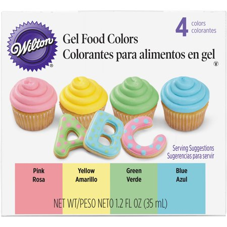 Wilton 3 oz. Gel Icing Color Set, 4 ct. 601-1006 - Walmart.com