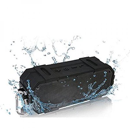 Woozik Wave - the Best Wireless Bluetooth Speaker feat. built-in speaker, IPX6 Water Resistant, powerful stereo sound for the outdoors, indoors and everywhere