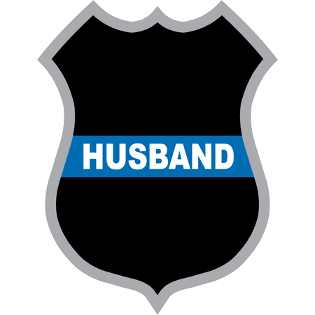 3.8 Inch Thin Blue Line Husband Police Badge Decal