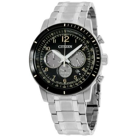 Men's Brycen 44mm Steel Bracelet & Case Quartz Black Dial Analog Watch CA4358-58E ()