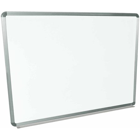Magnetic Poster Board - Luxor Magnetic Wall-Mounted Dry Erase Board, 48