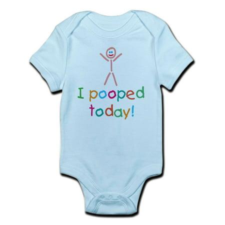 CafePress - I Pooped Today Fun Infant Bodysuit - Baby Light