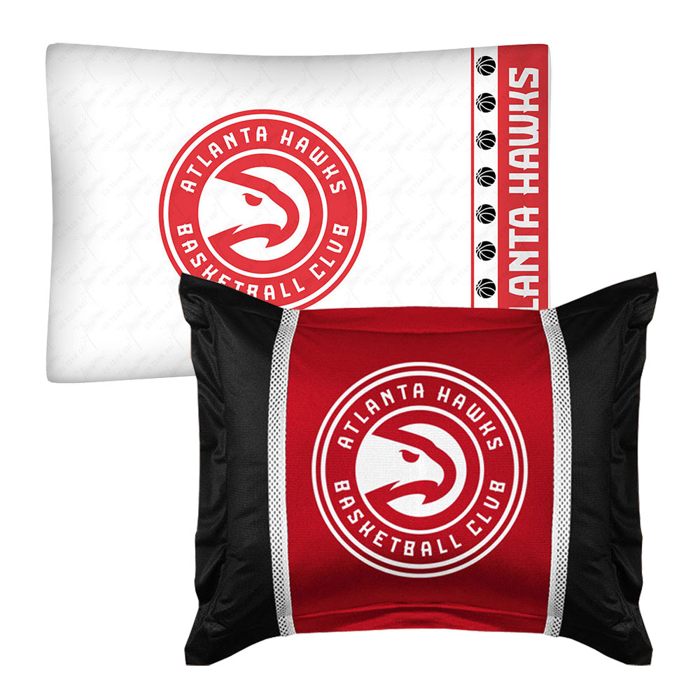 2pc NBA Atlanta Hawks Pillowcase Pillow Sham Set Basketball Team Logo Bedding Pillow Covers