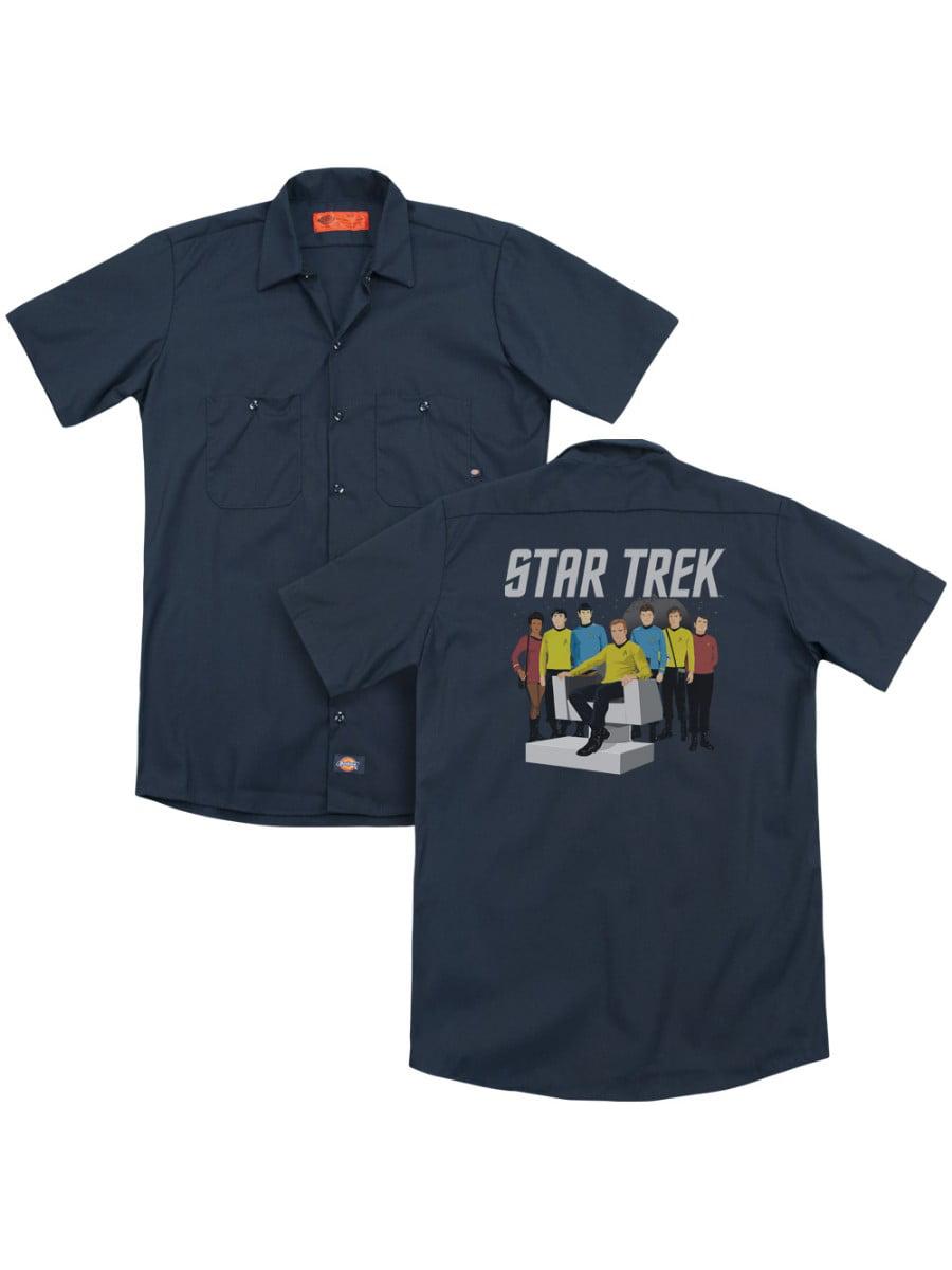 Star Trek Kirk Spock And Company Adult Work Shirt
