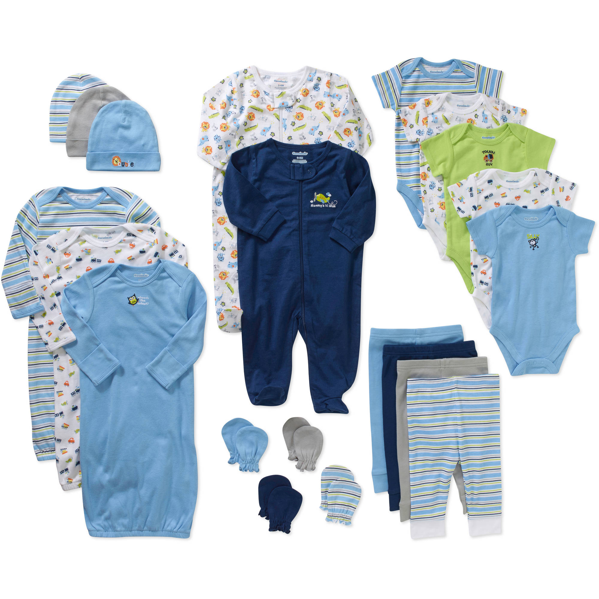 Garanimals Newborn Baby Boy 21 Pc Layette Baby Shower Gift Set   Walmart.com