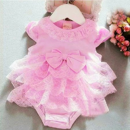 Lace Newborn Infant Baby Girls Tutu Tulle Skirt Romper Jumpsuit Bodysuit Outfits Clothes ()
