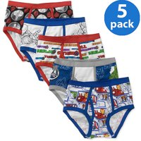 The Avengers Character Boys Underwear, 5 Pack Briefs Sizes 4 - 10/12