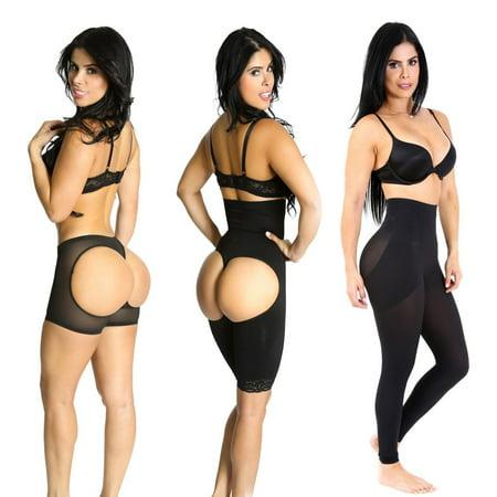 Shapex Butt Lifter taille haute Butt Lifter formateur contrôle Cuisse justaucorps et Shaper Legging 3PC Noir L