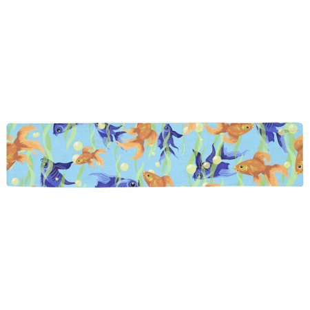 YUSDECOR Fish Table Runner for Office Kitchen Dining Room Wedding Party 16x72 inch - image 3 of 4