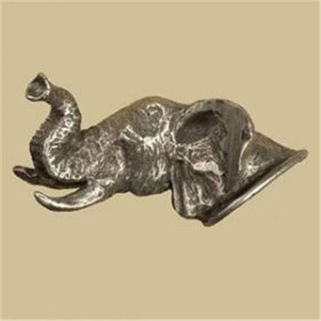 Anne at Home 148-1 Elephant Facing Left Head Knob in Pewter Matte