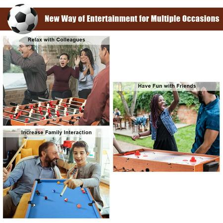 48'' 3-In-1 Multi Combo Game Table Foosball Soccer Billiards Pool Hockey Kids - image 2 of 10