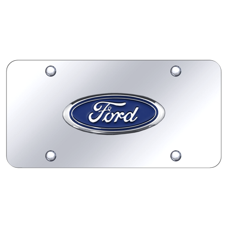 Au tomotive gold ford logo chrome on chrome plate walmart au tomotive gold ford logo chrome on chrome plate voltagebd Gallery