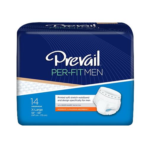 Prevail Per-Fit Men Underwear X-Large, Fits 58 inc - 68 inc Waist, 14 Ea, 4 Pack