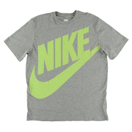 Nike Mens Oversized Futura T Shirt Grey