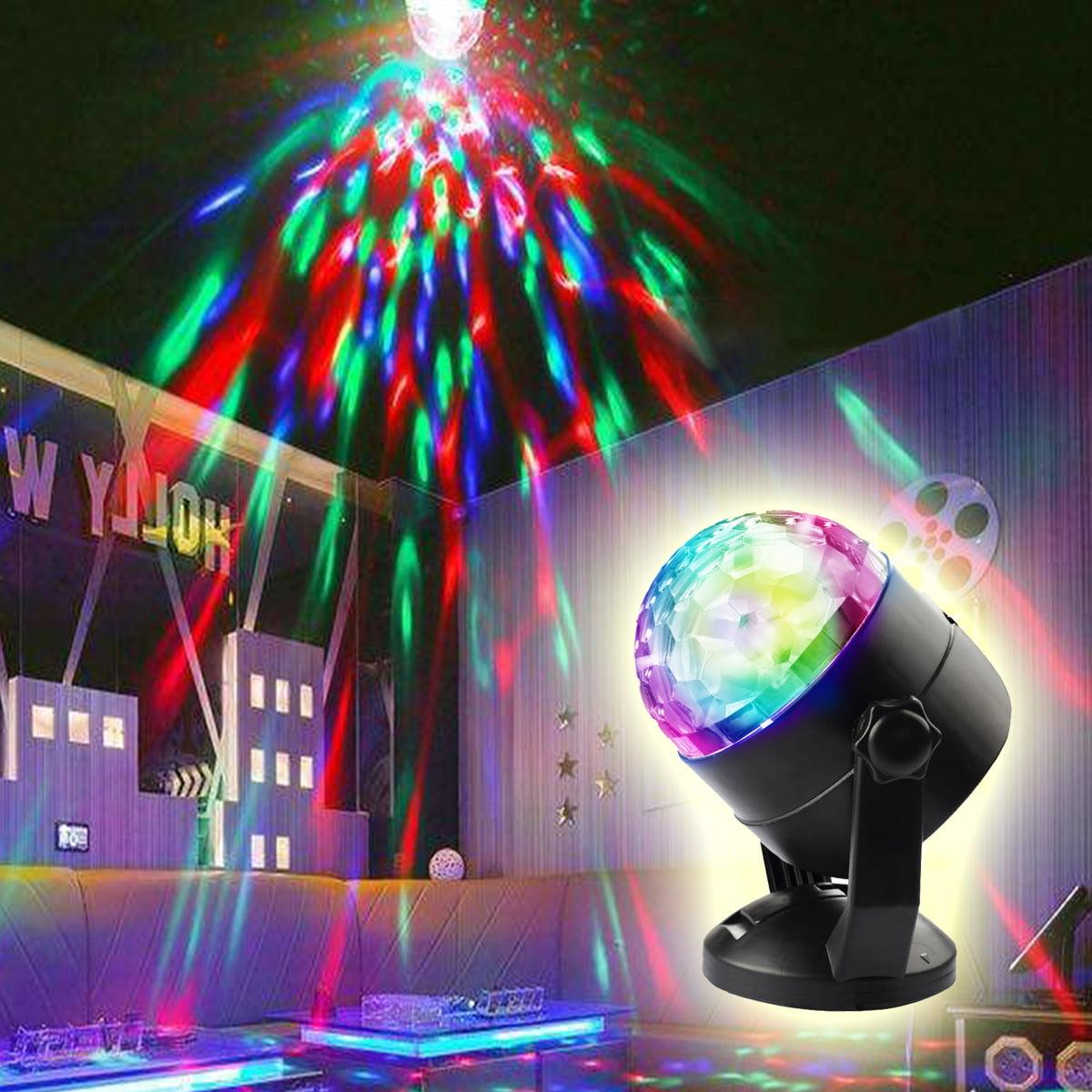 3W Mini RGB LED Crystal Magic Ball Stage Lighting Effect Lamp Bulb Party Disco Club DJ Light for Halloween Christmas... by CoastaCloud