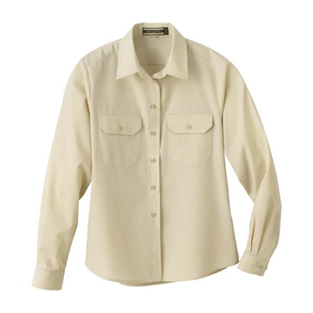 North End Ladies' Soil Release Long Sleeve Broadcloth Shirt Button Down 77701