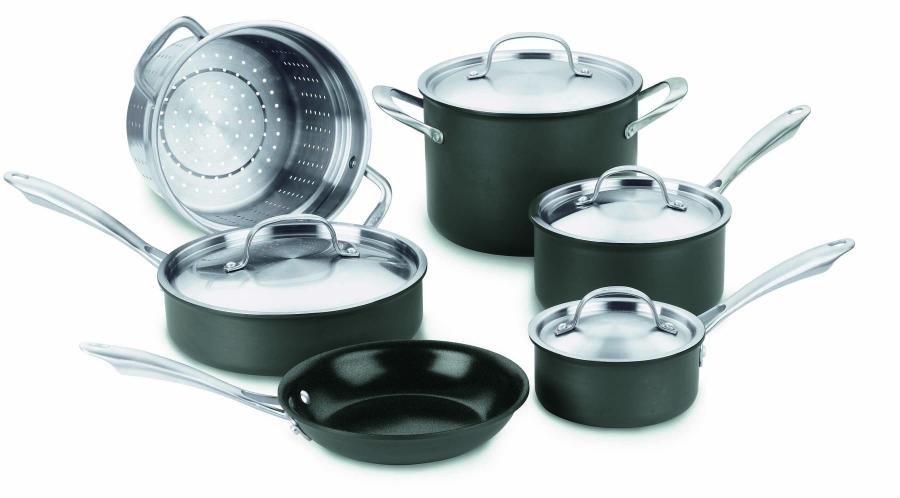Cuisinart Greengourmet Hard Anodized Eco Friendly Non-Stick 10 Pc. Set
