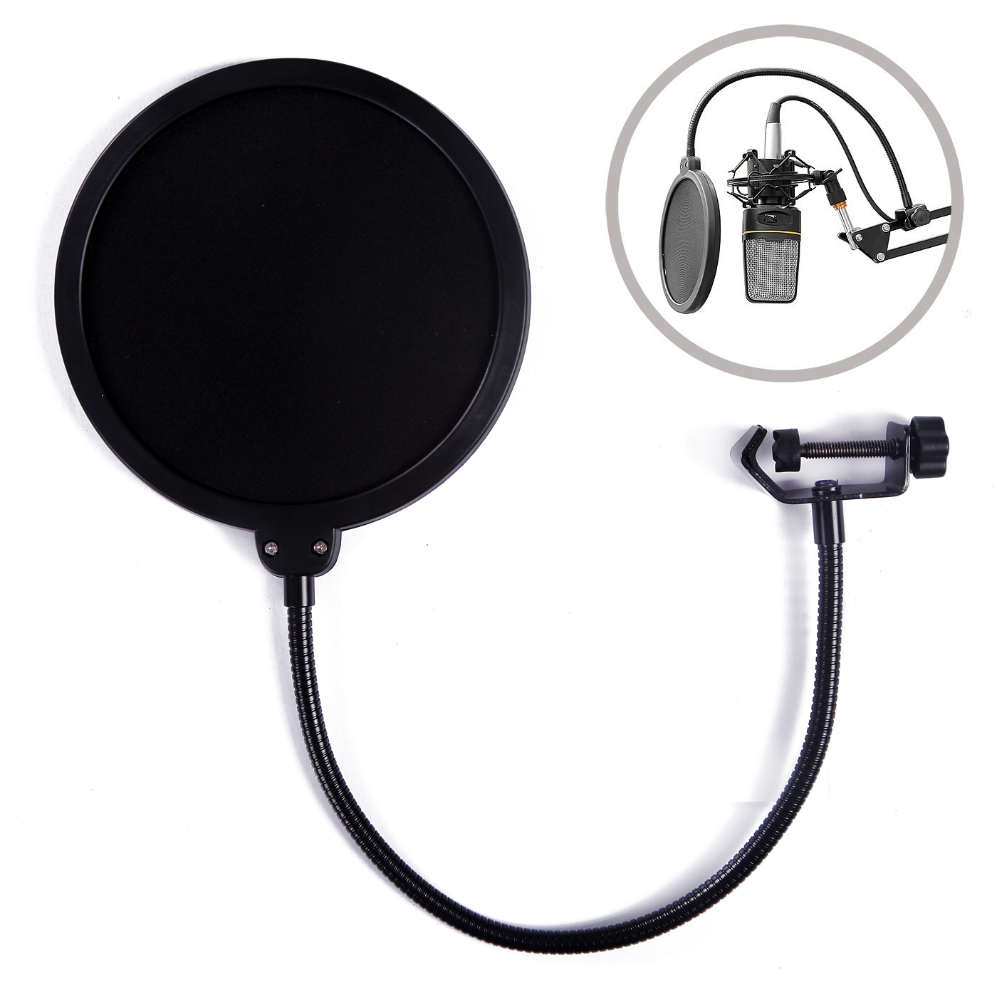 HDE 6 Inch Pop Filter Shield for Blue Yeti Microphones and USB Condenser Mics