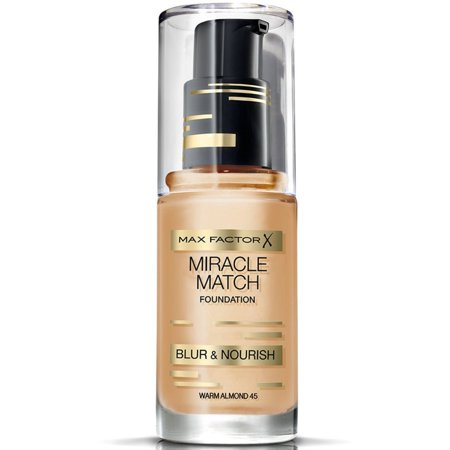 2 Pack - Max Factor Miracle Match Foundation, [45] Warm Almond, 1 oz