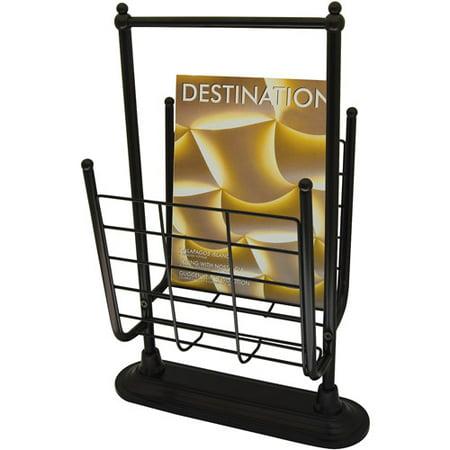 Neu Home Free Standing Magazine Rack, Oil Rubbed Bronze