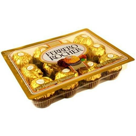 (Ferrero Rocher® Fine Hazelnut Chocolates 5.3 oz. Pack)