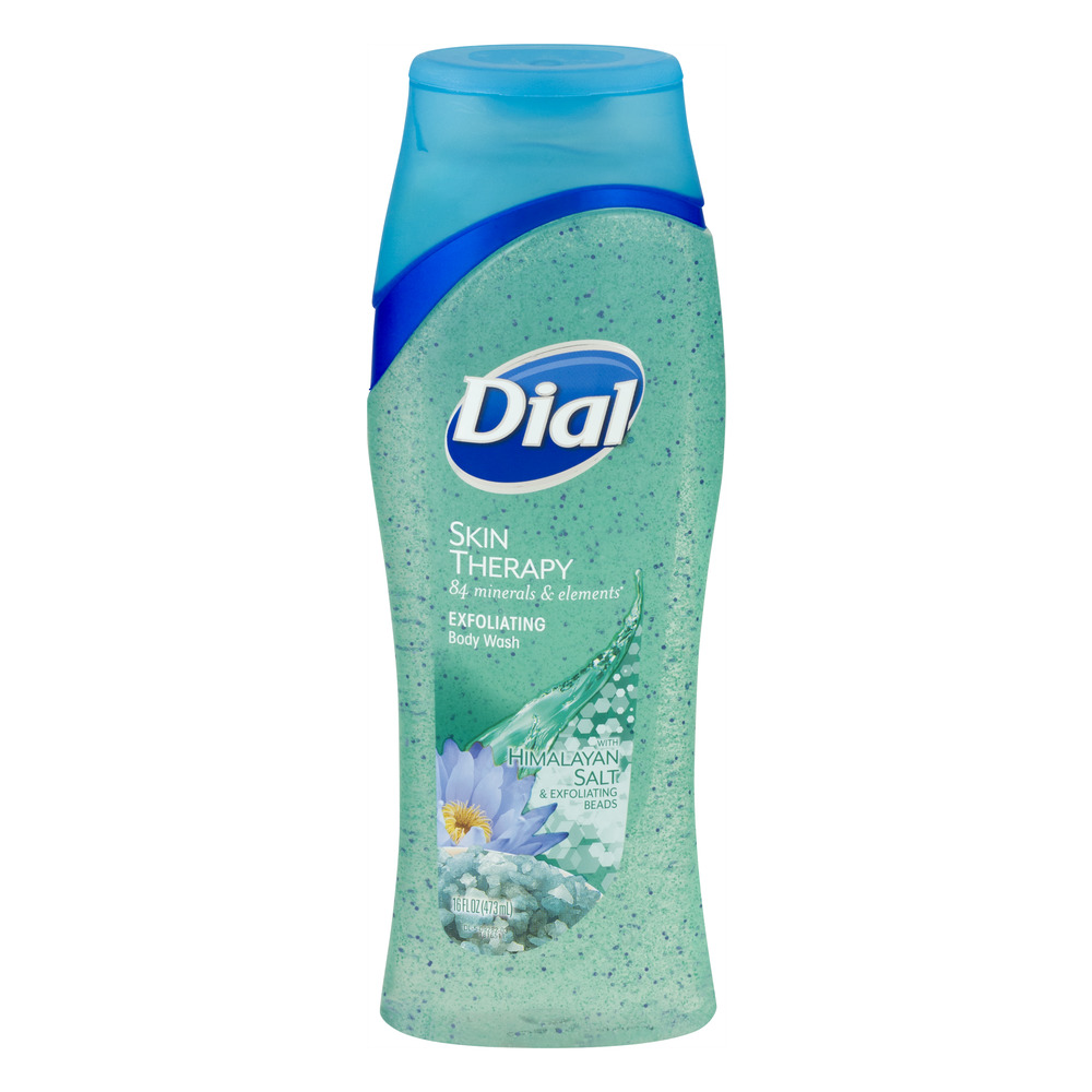 Dial Skin Therapy Exfoliating Body Wash With Himalayan Salt & Exfoliating Beads