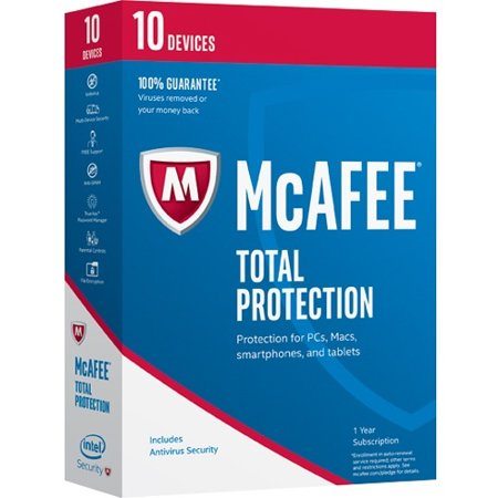 Mcafee Total Protection 2017   10 Device   Internet Security Box Retail