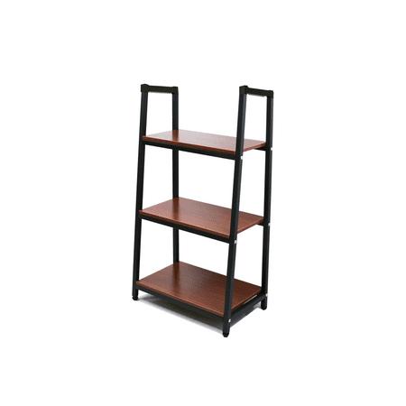 Heavy Duty Metal Home Decorate Bookcase 3 Shelf Black ()