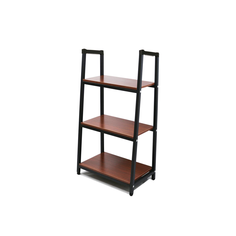 Heavy Duty Metal Home Decorate Bookcase 3 Shelf Black