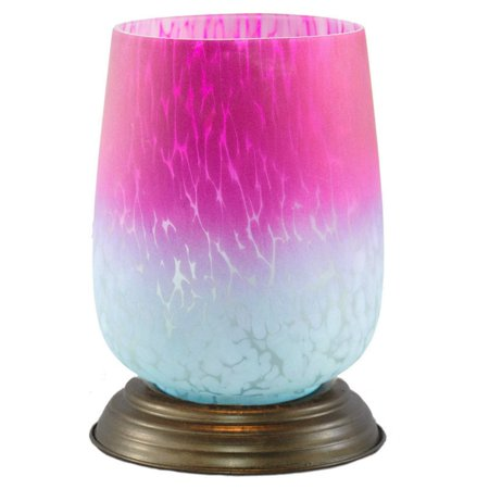 - River of Goods Bordeaux Hand Blown Glass Shade Table Lamp