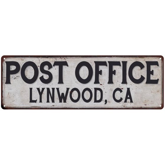 Lynwood Ca Post Office Personalized Metal Sign Vintage 6x18 206180011470