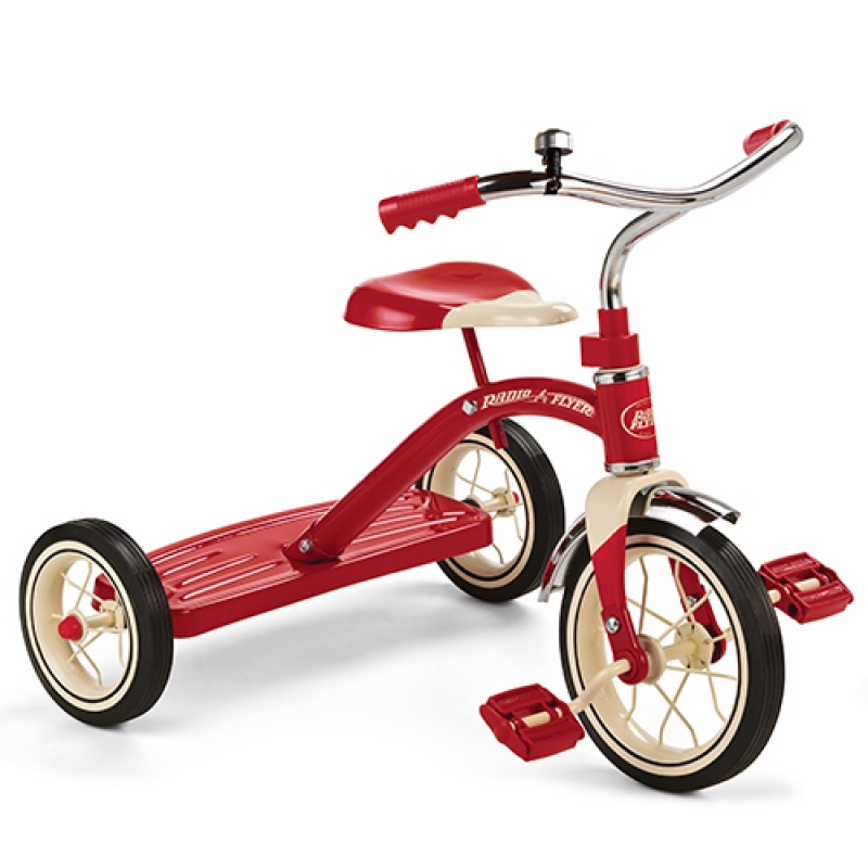 """Radio Flyer 34B Classic Retro Styled Toy Tricycle, For 2 - 4 Years, Red, 10"""""""