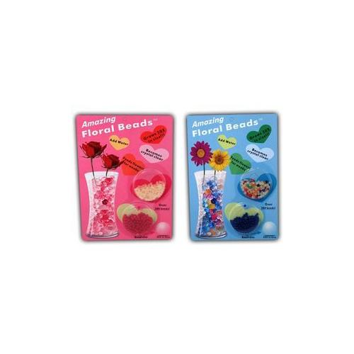 Floral Beads in Various Colors (Pack of 72)