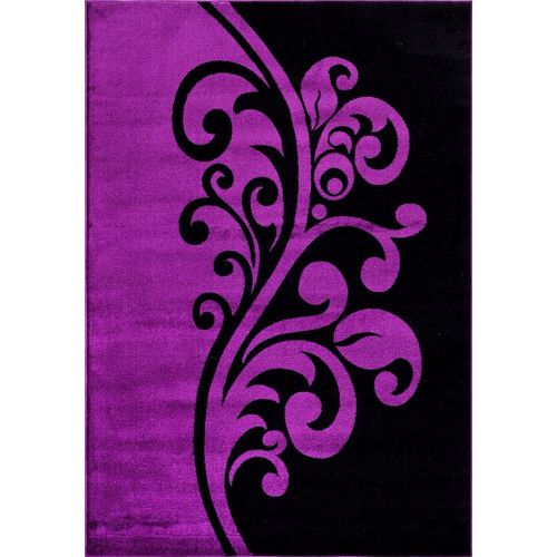 Persian Rugs 1012 Purple Floral Contemporary Area Rug by Persian Rugs