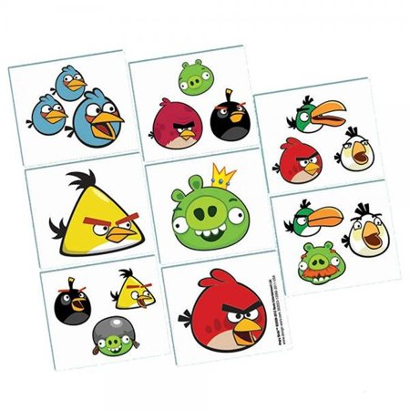 Angry Birds Tattoos 16ct - Tattoos Birds
