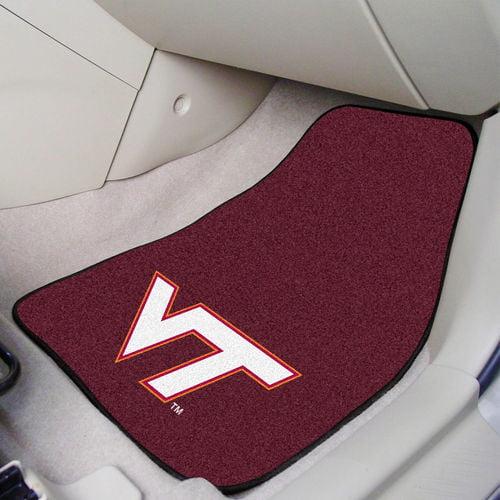 Virginia Tech 2 Pc Carpeted Car Mats 17 X27 Walmart Com