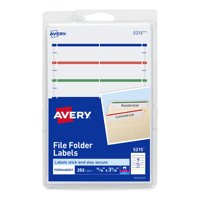 Avery File Folder Labels, Permanent, Assorted, 252 Labels (5215)