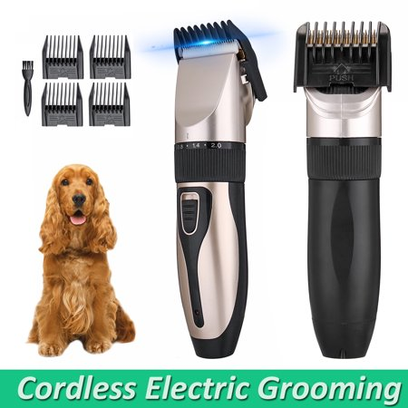 MECO Professional Quiet Mute Electric Trimmer Clipper Shaver Grooming Kit Set for Pet Cat Dog